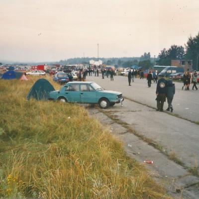 Sunday morning greys . Czech Teknival, 1999. 10 x 12in