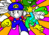Mario Brothers Coloring