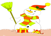 Paint Colors Games: Snowman