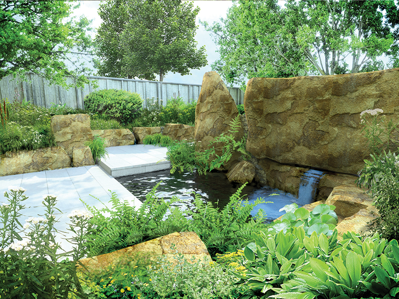 Rhs chelsea flower show 2016 cleve west s m g garden for Mg garden designs