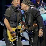 Springsteen and Van Zandt share the mic