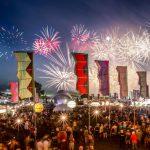 Fireworks over the festival