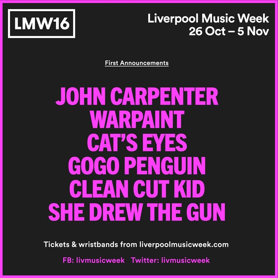 Liverpool Music Week 2016 First Announcement