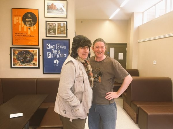 Jamie Reid (left) at the Florrie