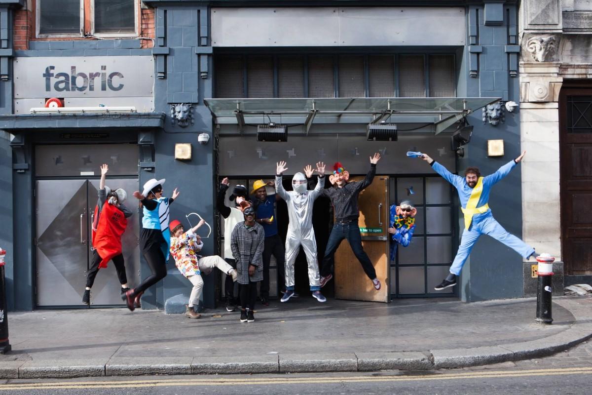 Fabric London staffers celebrating their birthday - from Facebook