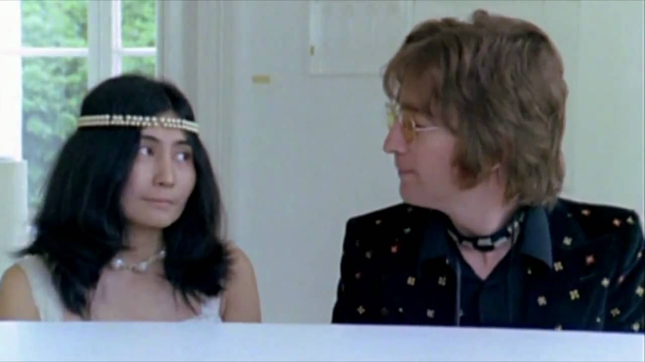 John and Yoko in the Imagine video