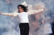 Michael Jackson performs at the 1993 Superbowl