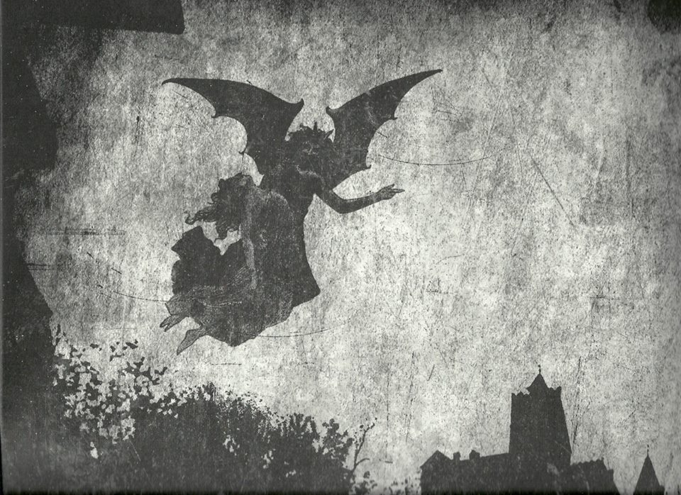 No pictures exist of Cultes Des Ghoules' band members, this is the cover art for their EP Spectres Over Transylvania
