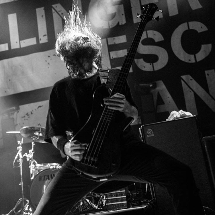 The Dillinger Escape Plan's Liam Wilson - Photo by stevoshoots