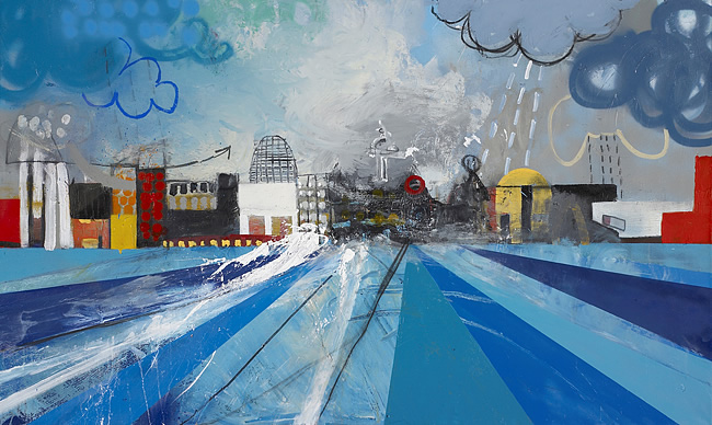 Liverpool Waterfront by Nathan Pendlebury (image courtesy of artist's webiste)