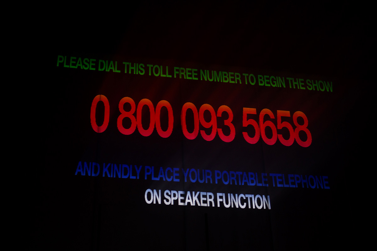 Dial the number to begin the concert