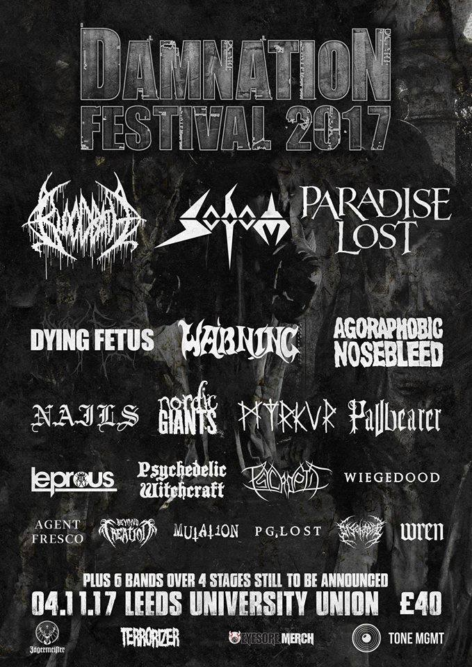 Damnation Festival 2017 Line-up