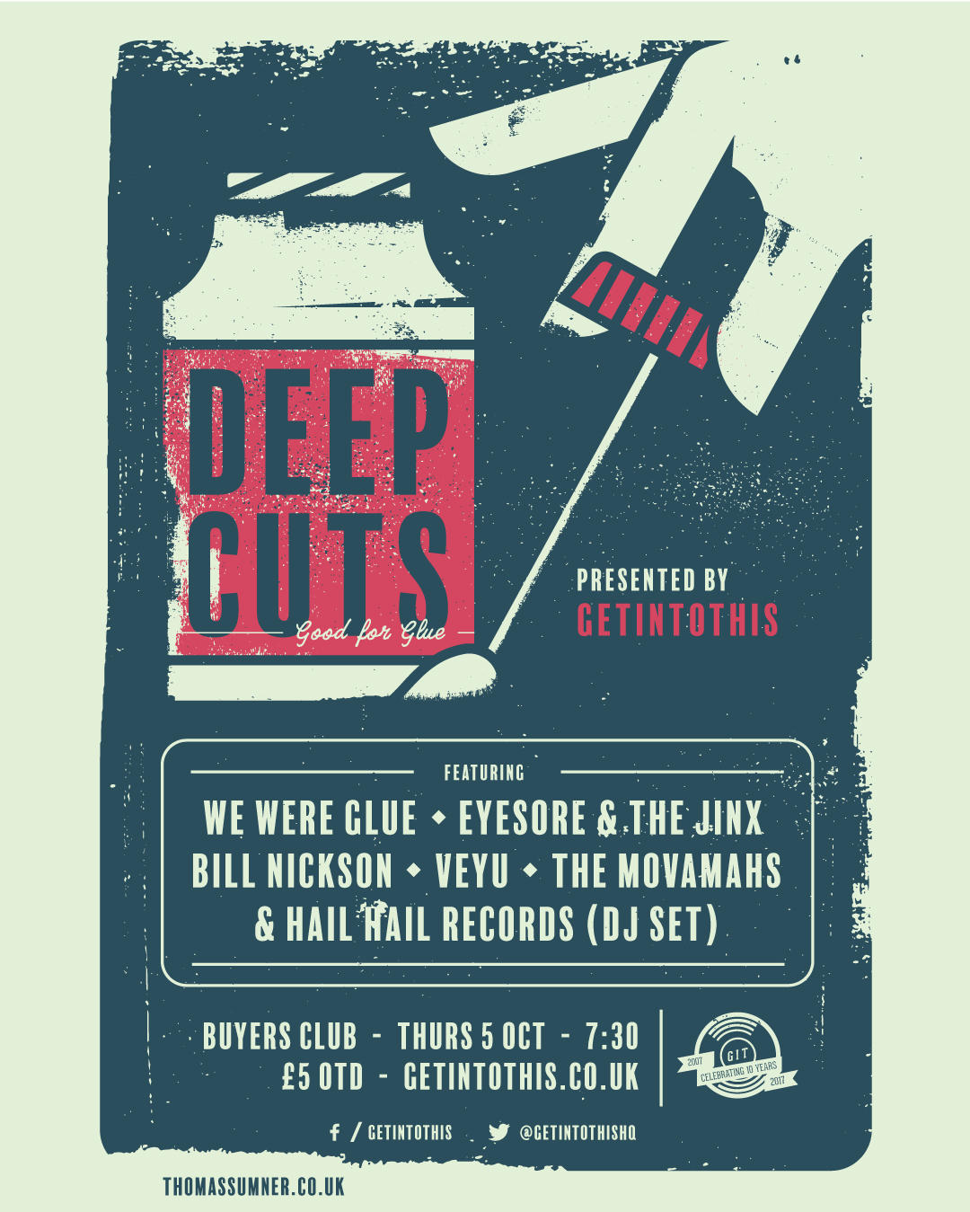Deep Cuts #9 - Thursday October 5 at Buyers Club