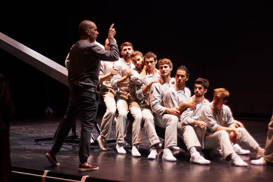 Choreographer Javier De Frutos and Balletboyz in rehearsal (photo credit: artist's Facebook page)