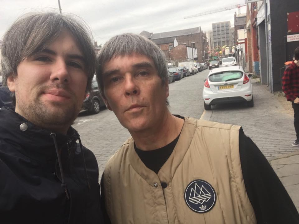 Ian Brown with Getintothis photographer Gaz Jones