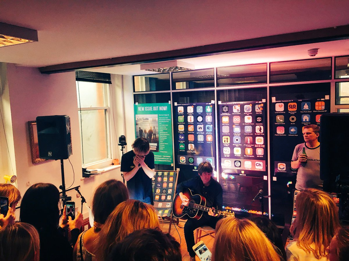 The Charlatans performing a secret gig in Manchester