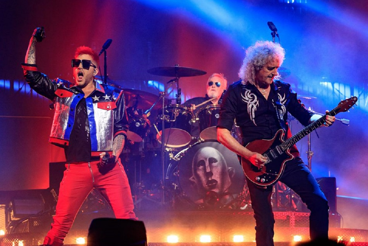 Queen with Adam Lambert. Photo from Artist's Facebook page