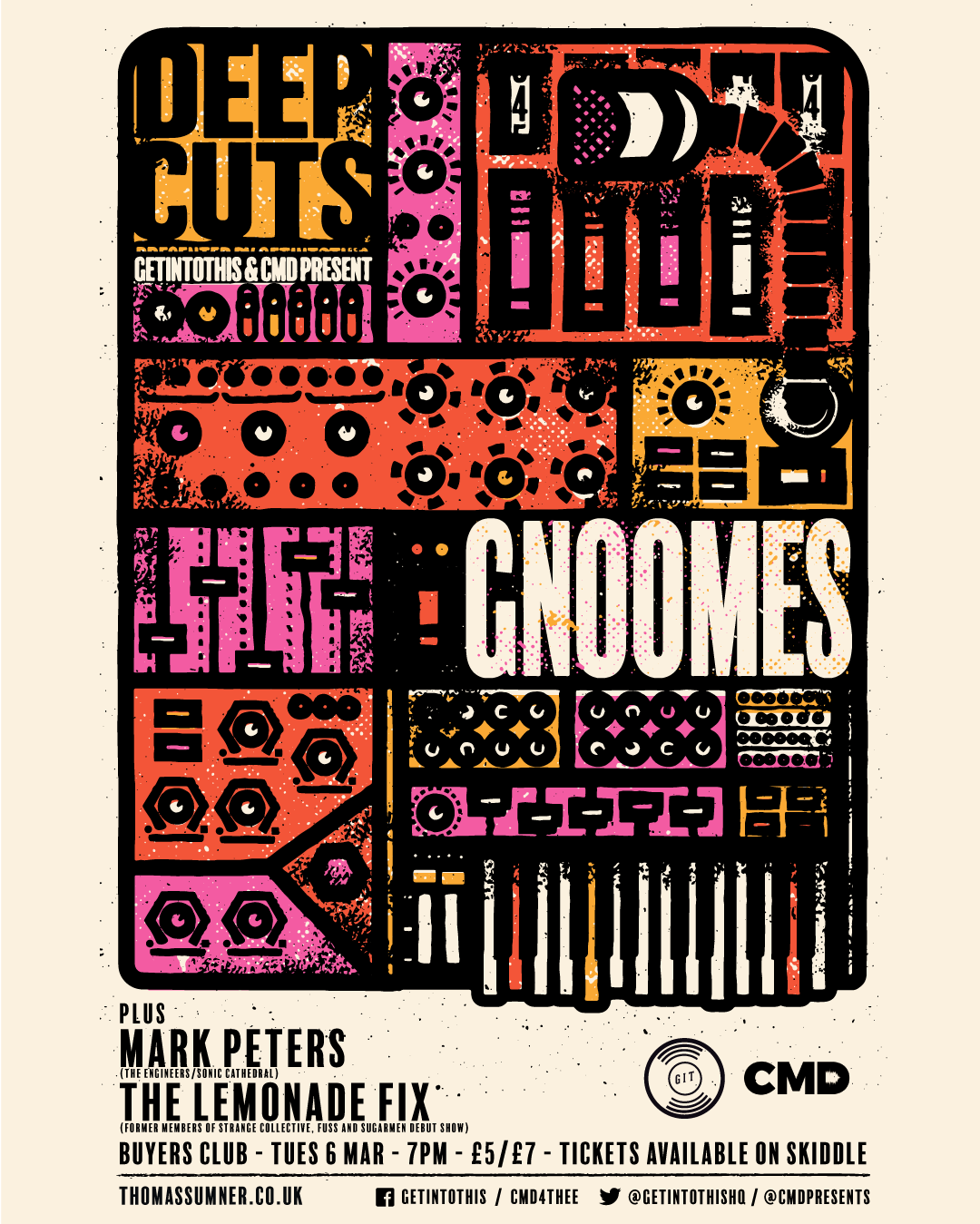 Getintothis' Deep Cuts in March featuring Gnoomes, Mark Peters and The Lemonade Fix