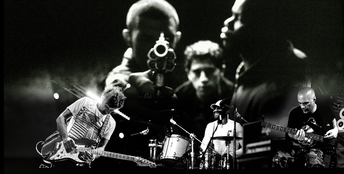 Asian Dub Foundation performing to the film La Haine