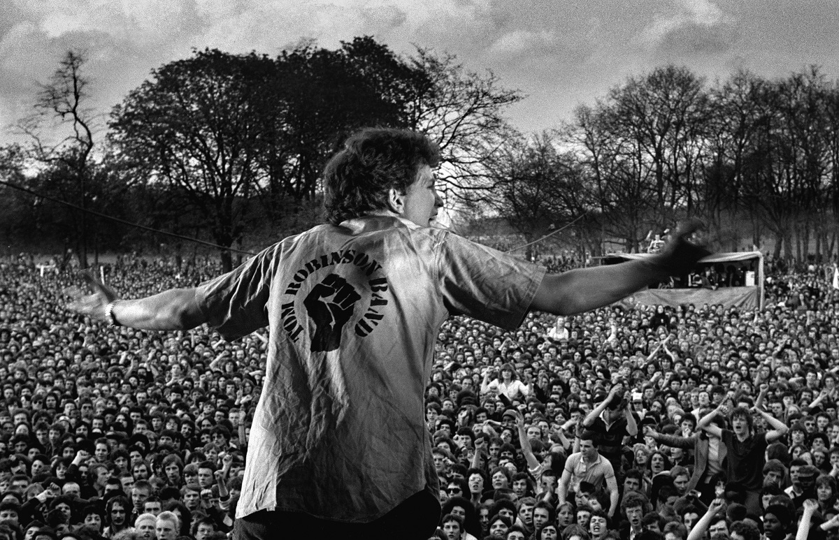 Rock Against Racism/Anti Nazi League Carnival 1 Victoria Park East London 30 April 1978. Tom Robinson. Photo Credit: © Syd Shelton