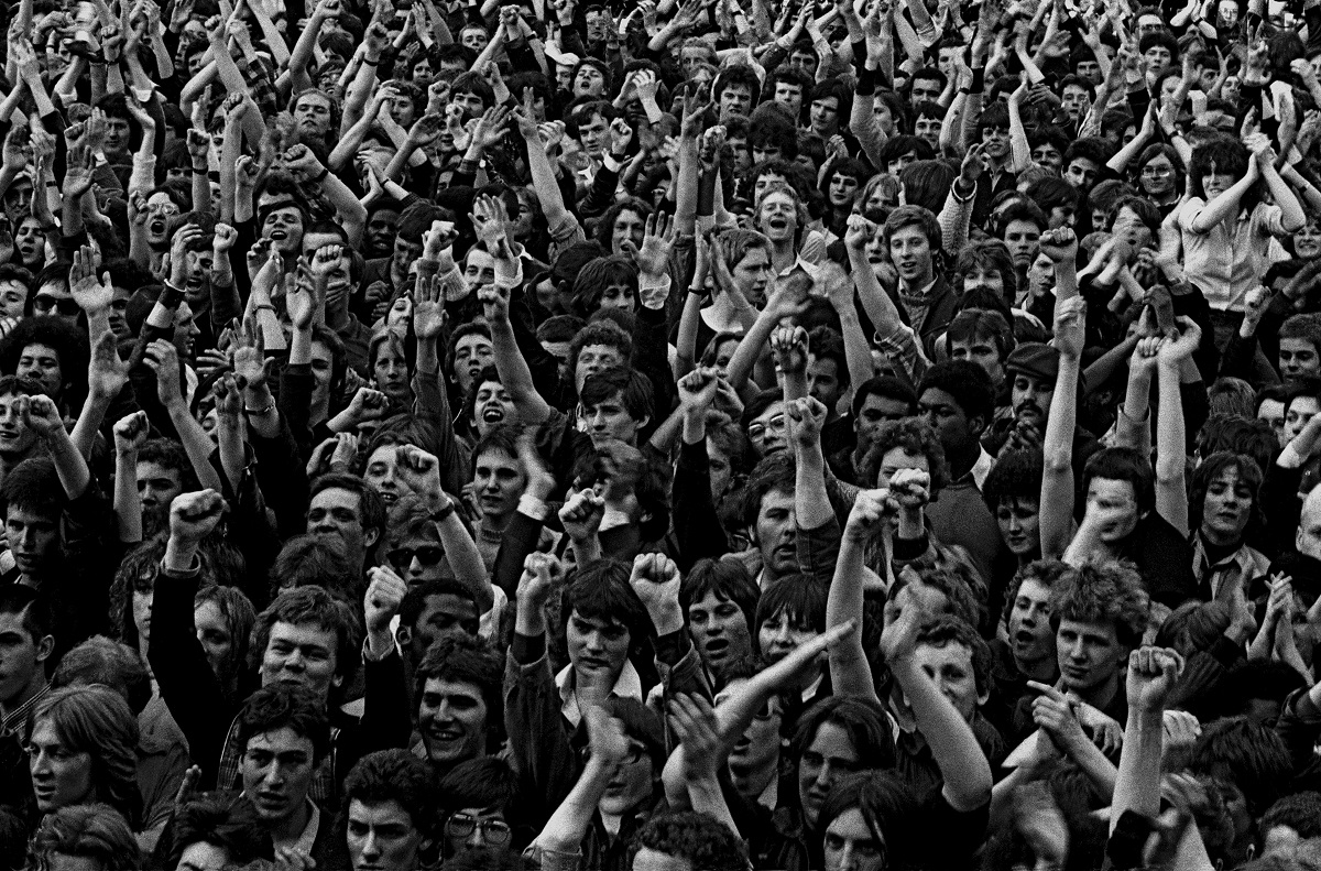 An estimated crowd of 100,000 marched seven miles from Trafalgar Square to Victoria Park. 30 April 1978 Photo Credit: © Syd Shelton