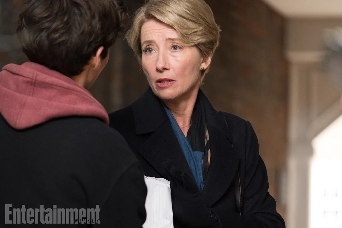 Emma Thompson and Fionn Whitehead. Photo credit: Entertainment Weekly