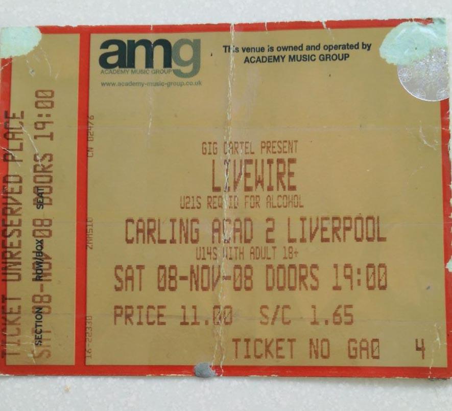 Amy ticket copy