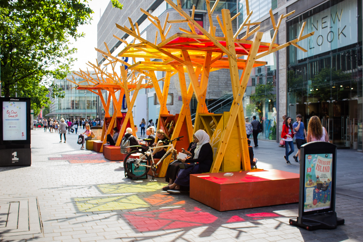 Reading Trees at Liverpool One (photo credit: Lucy McLachlan