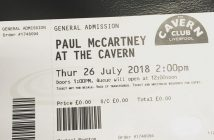 Paul McCartney Cavern ticket
