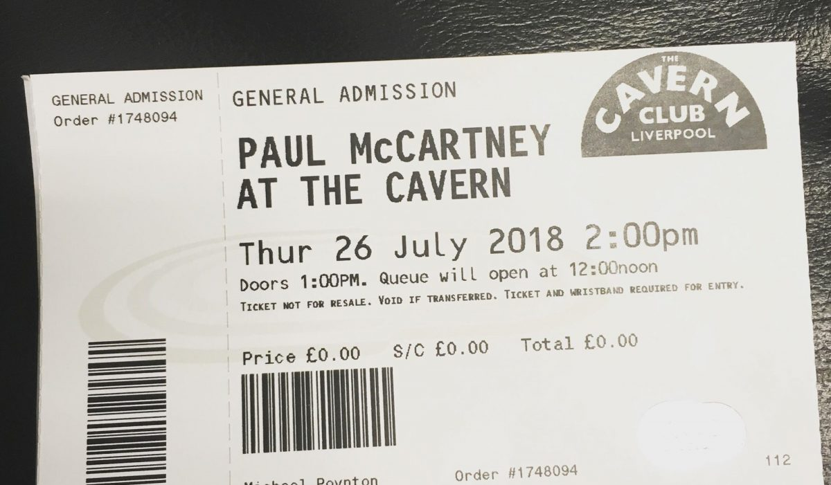 Bildresultat för paul mccartney at the cavern 2018