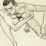 1978  Egon Schiele - Self Portrait in Crouching Position, 1913
