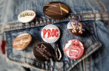 prog rock badges on denim jacket
