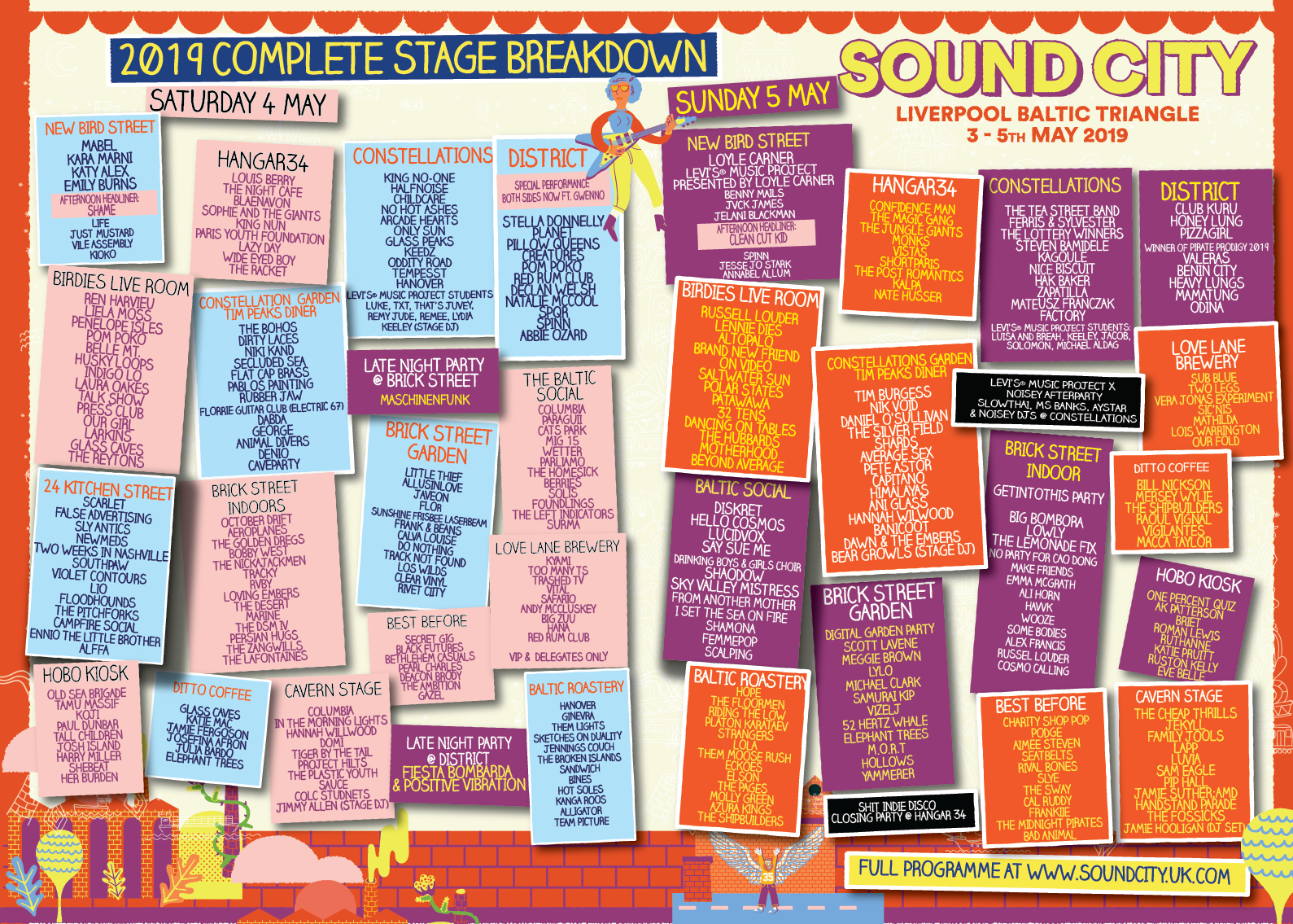 Liverpool Sound City 2019 venue guide and stage plan - exclusive