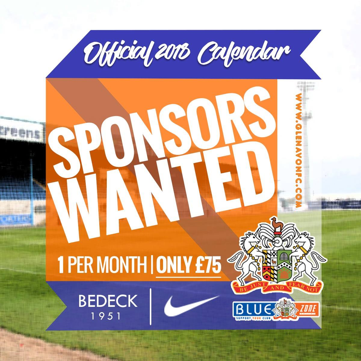 Official 2018 Calendar Sponsors Wanted