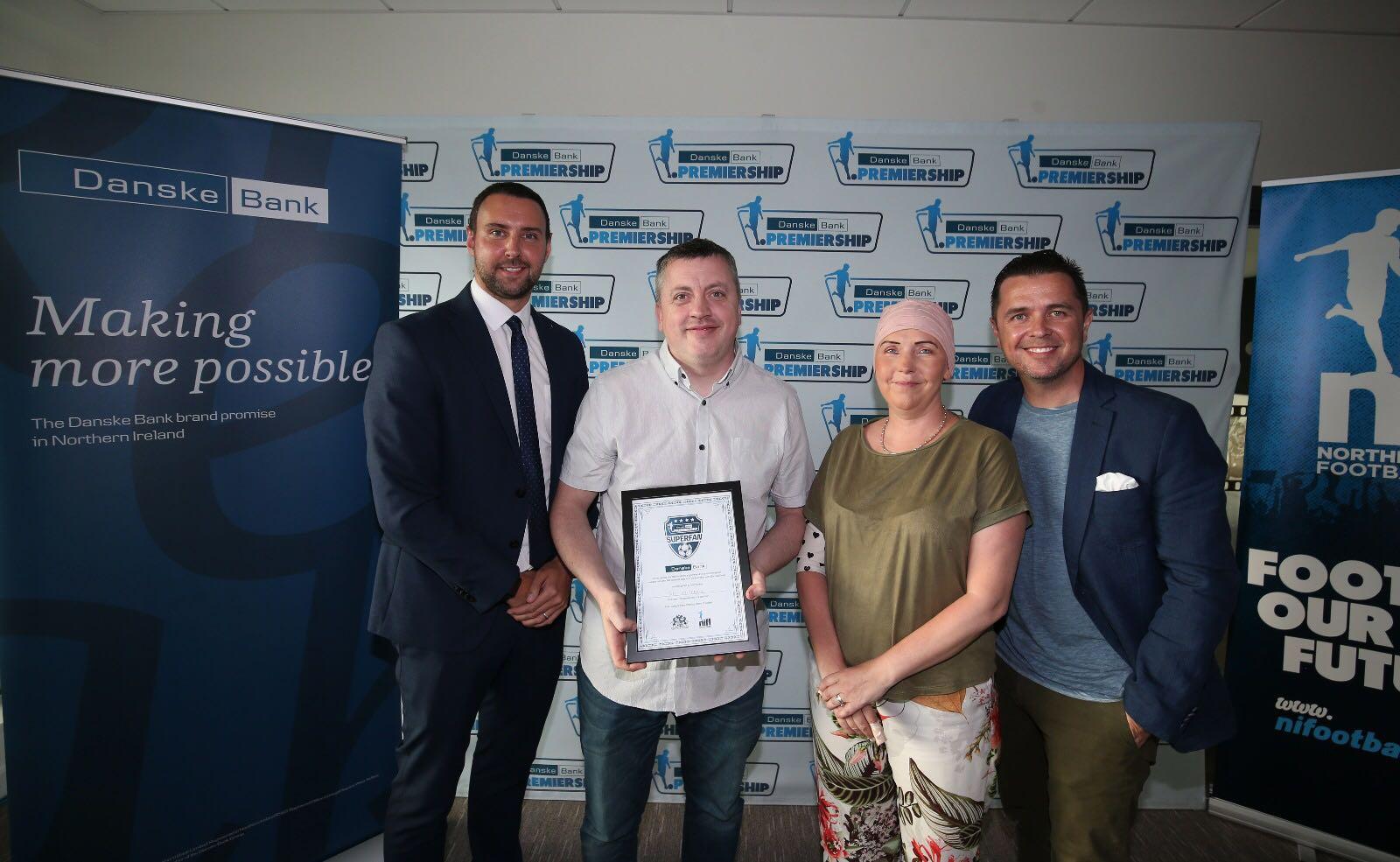 Tom wins Danske Bank Superfan Award