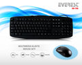 EVEREST UN-796 SİYAH KLAVYE+MOUSE SET