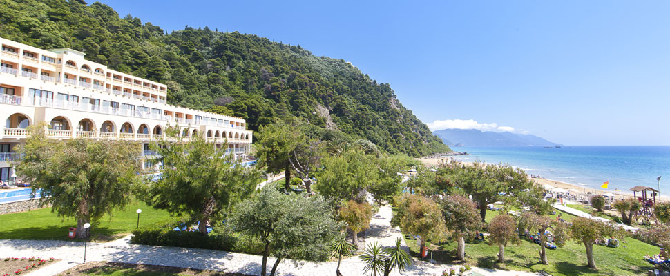 lti louis grand hotel in Corfu - panoramic photo