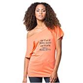 T-Shirt Donna con Scollo Largo