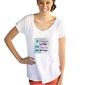 T-shirt Donna Scollo a V