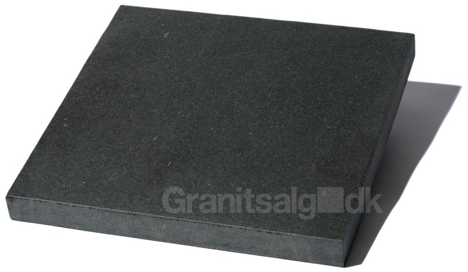 Kinesisk flise 40x40x5 cm sort   granitsalg.dk