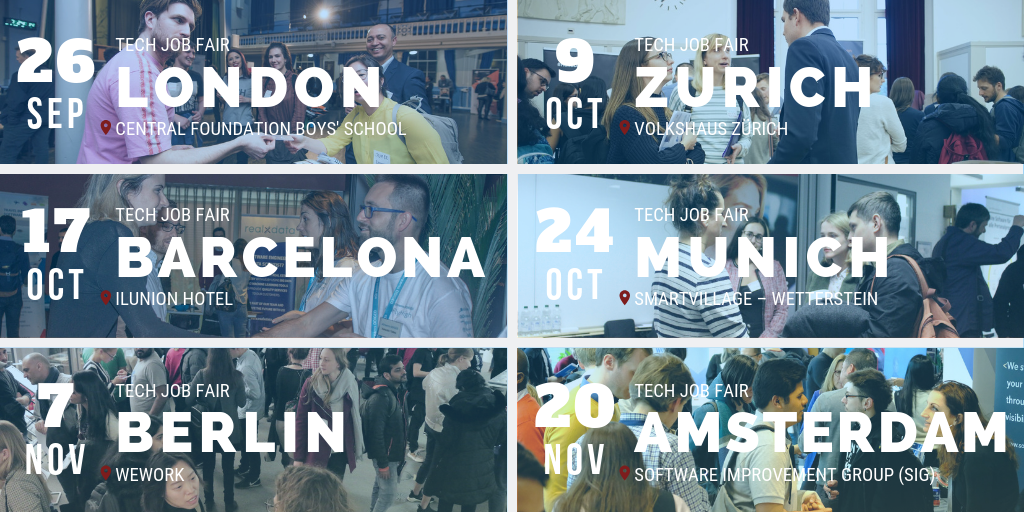 2019 Tech Job Fairs by Techmeetups