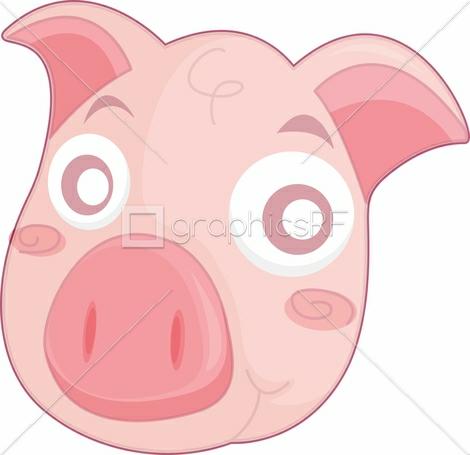 Cartoon pig face wallpaper