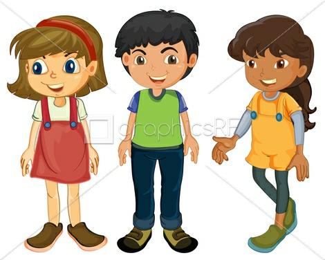 Рисунок трое друзей