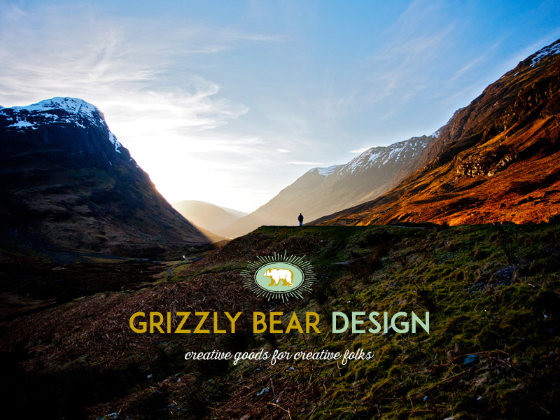 Grizzly bear design branding