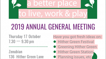 Poster advertising the Annual general meeting