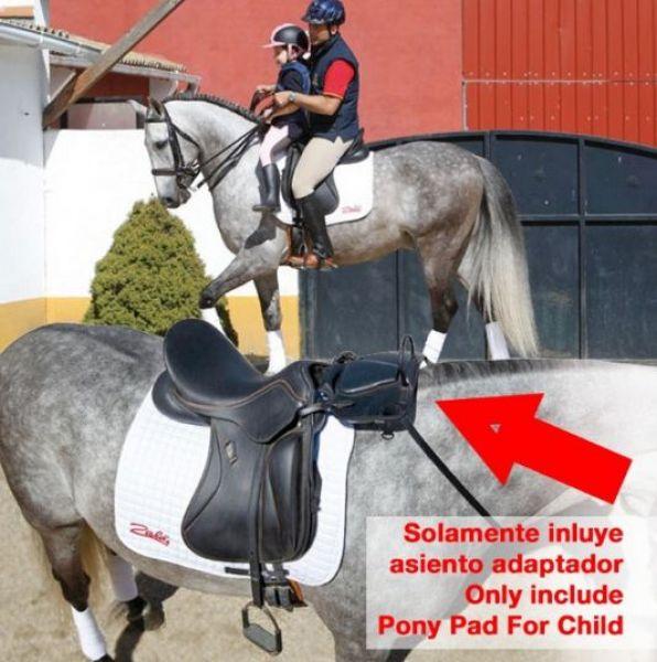 Asiento adaptador de silla para ni o de zaldi for Sillas para caballos