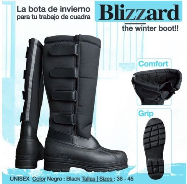 Bota montar invierno blizzard negro 36 a 44 de hipisur for Botas montar a caballo