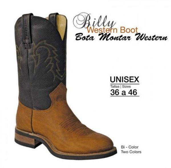 Bota de montar western billy boots ab00103 for Botas montar a caballo