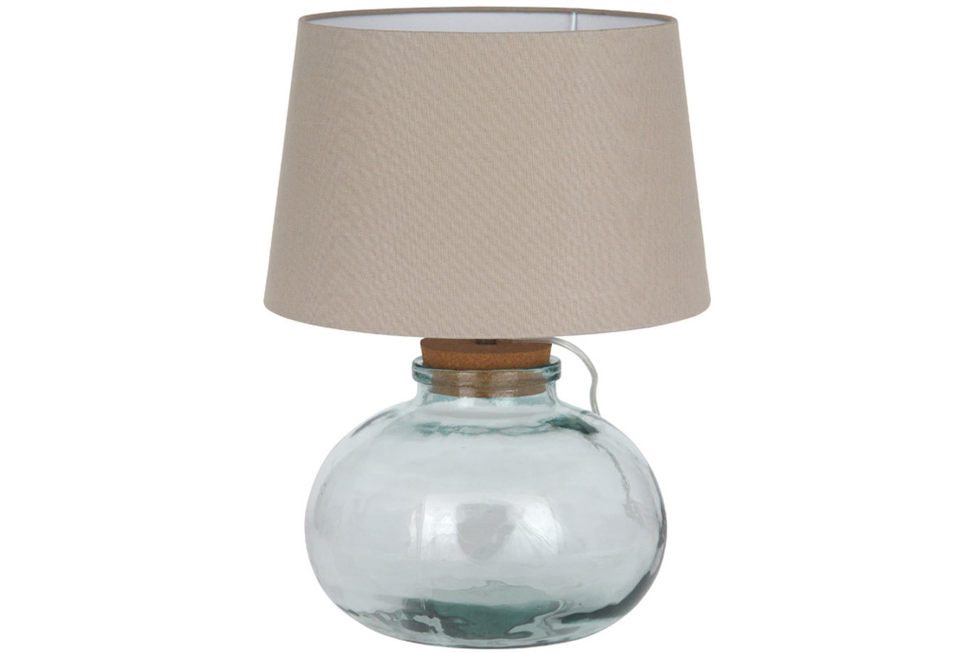 Sofa Covers Cork Ireland picture on clear recycled glass table lamp