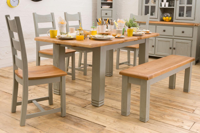 Queenstown 6 piece dining set ireland for Kitchen set grey